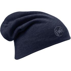 Buff Merino Wool Thermal Solid Denim